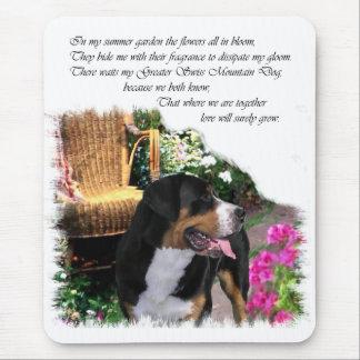 Tapis De Souris De plus grands cadeaux suisses d'art de chien de