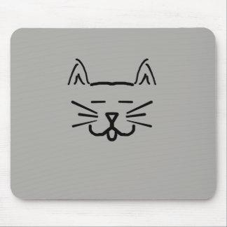 tapis de souris de visage de chat de schéma