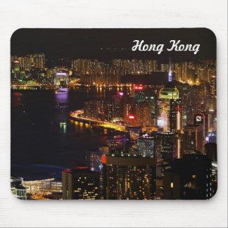 Tapis de souris de voyage de Hong Kong Nightscape