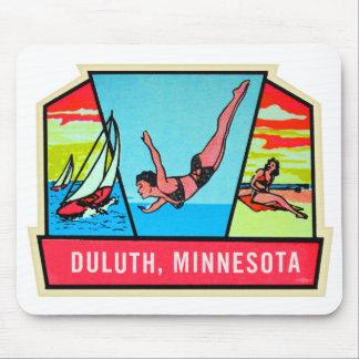 Tapis De Souris Décalque vintage de voyage du kitsch 60s Dultuh