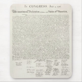 Tapis De Souris Déclaration d'indépendance des Etats-Unis