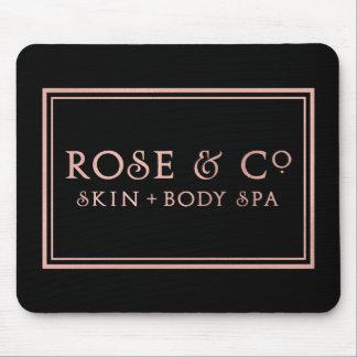 Tapis De Souris Décor minimal de noir d'or de rose de rose