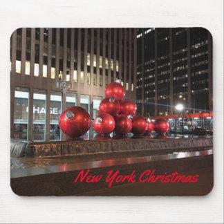 Tapis De Souris Décorations de vacances de Noël NYC de New York