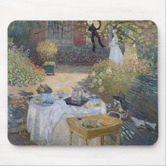 Tapis De Souris Déjeuner de Claude Monet | : Le jardin Argenteuil