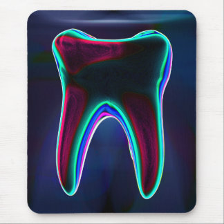 Tapis De Souris Dent rougeoyante bleue Mousepad de dentiste