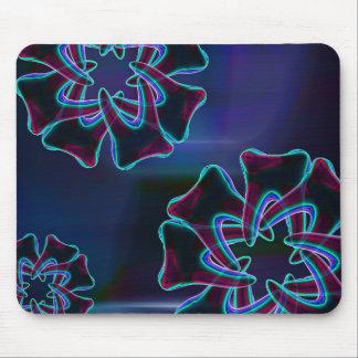 Tapis De Souris Dentiste bleu Mousepad de conception de fleur de