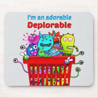 Tapis De Souris Déplorable adorable, panier de Deplorables