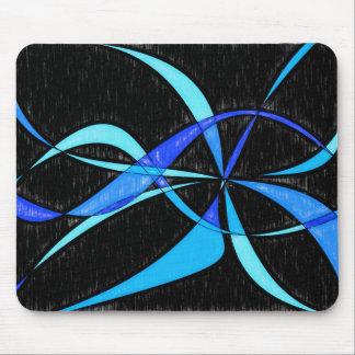 Tapis De Souris Dessin au crayon bleu de poissons de cool moderne