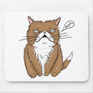 Tapis De Souris Dessin grincheux drôle de chat de Meh