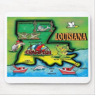 Tapis de souris d'état de la Louisiane