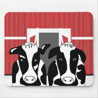 Tapis De Souris Deux couples drôles Mousepad de vache