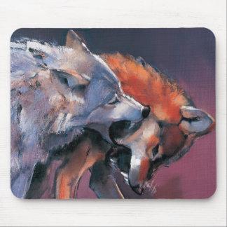 Tapis De Souris Deux loups