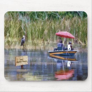 Tapis De Souris Deux pêcheurs au lac