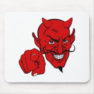 Tapis De Souris Diable dirigeant le personnage de dessin animé
