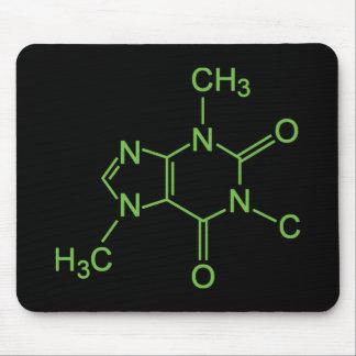 Tapis De Souris Diagramme de produit chimique de molécule de café