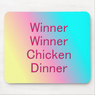 Tapis De Souris Dîner Mousepad de poulet de gagnant de gagnant