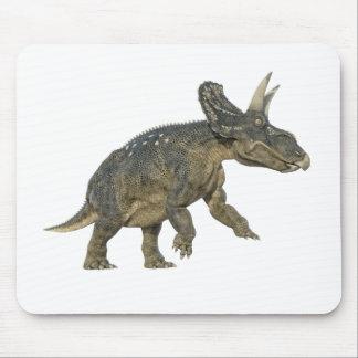 Tapis De Souris Dinosaure de Nedoeratops se préparant à une charge