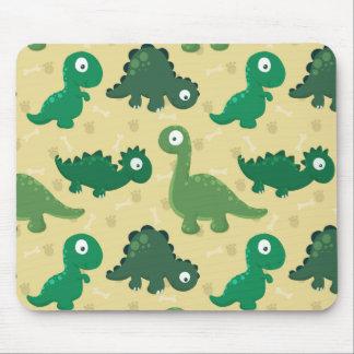 Tapis De Souris Dinosaures - motif jurassique sans couture mignon