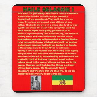 Tapis De Souris Discours célèbre de guerre de Haile Selassie à