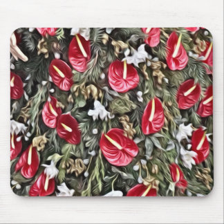 Tapis De Souris disposition florale extraordinaire de Noël