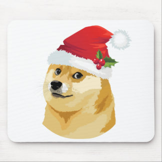 Tapis De Souris Doge de Noël - doge de père Noël - chien de Noël