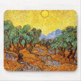 Tapis de souris d'oliviers de Van Gogh