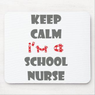 tapis de souris d'ordinateur d'infirmière d'école