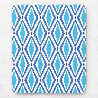Tapis De Souris Double rétro motif de diamant (bleu)