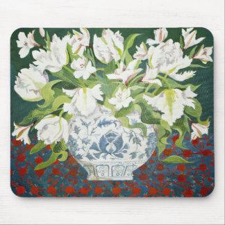 Tapis De Souris Doubles tulipes blanches et alstroemerias 2013