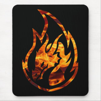 Tapis De Souris Dragon 1 de flamme