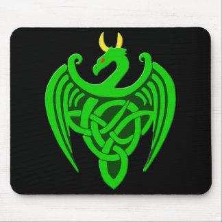 Tapis De Souris Dragon celtique vert Mousepad