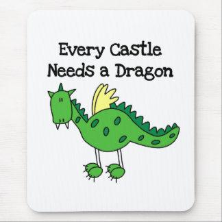 Tapis De Souris Dragon de château