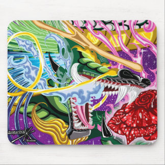 Tapis De Souris Dragon en gros plan du rose Mousepad
