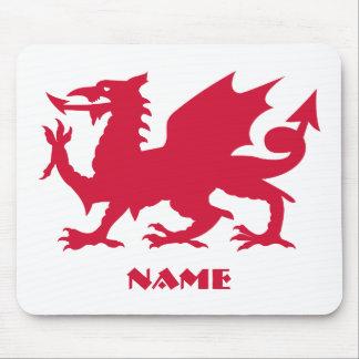 Tapis De Souris Dragon rouge personnalisé de Gallois