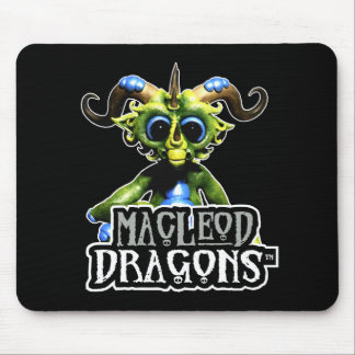 Tapis De Souris Dragon vert Mousepad de DM