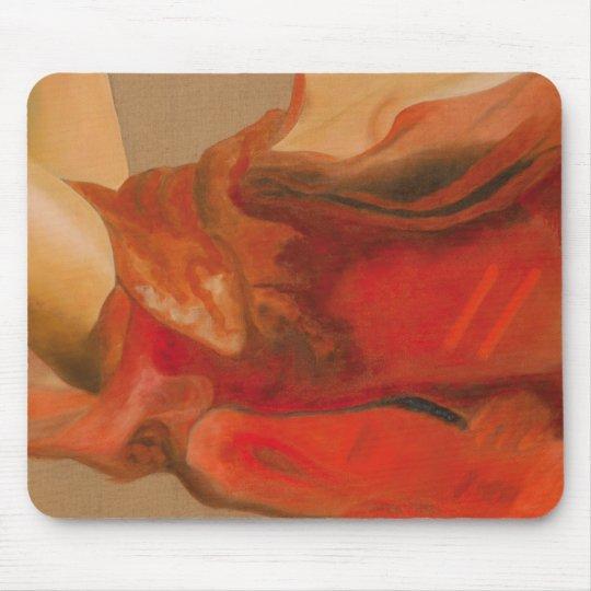 Tapis De Souris Drapé rouge 1
