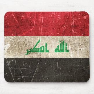 Tapis De Souris Drapeau âgé et rayé de cru de l'Irak