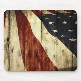 Tapis De Souris Drapeau américain de fibre de bois americana