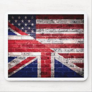 Tapis De Souris Drapeau américain et britannique