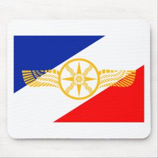 Tapis De Souris Drapeau assyrien, drapeau chaldéen, drapeau de