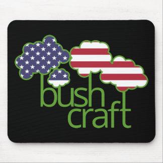 Tapis De Souris Drapeau de Bushcraft Etats-Unis