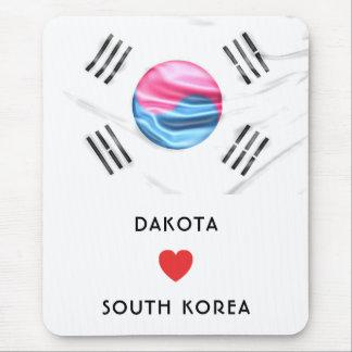 Tapis De Souris Drapeau de coeur de la coutume I de la Corée du