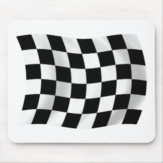 Tapis De Souris Drapeau de emballage Checkered Mousepad