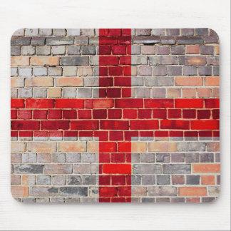 Tapis De Souris Drapeau de l'Angleterre sur un mur de briques