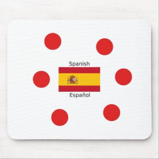 Tapis De Souris Drapeau de l'Espagne et conception de langue