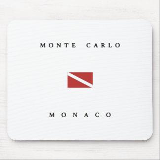 Tapis De Souris Drapeau de piqué de scaphandre de Monte Carlo