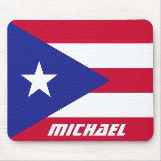 Tapis De Souris Drapeau de Porto Rico avec le monogramme
