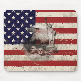 Tapis De Souris Drapeau et symboles des Etats-Unis ID155