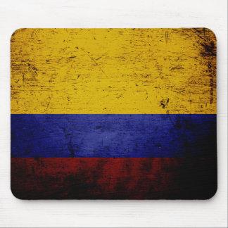 Tapis De Souris Drapeau grunge noir de la Colombie