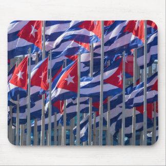 Tapis De Souris Drapeaux cubains, La Havane, Cuba